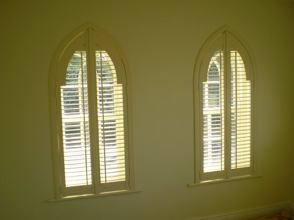 Gothic style shutters