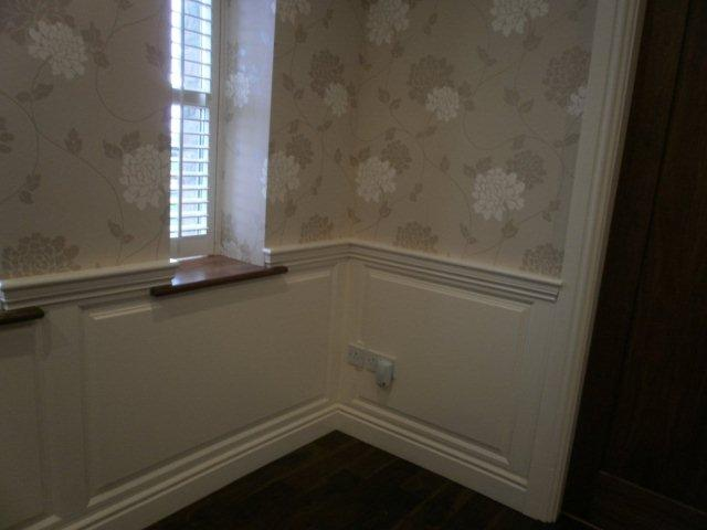 shutters with wainscoting
