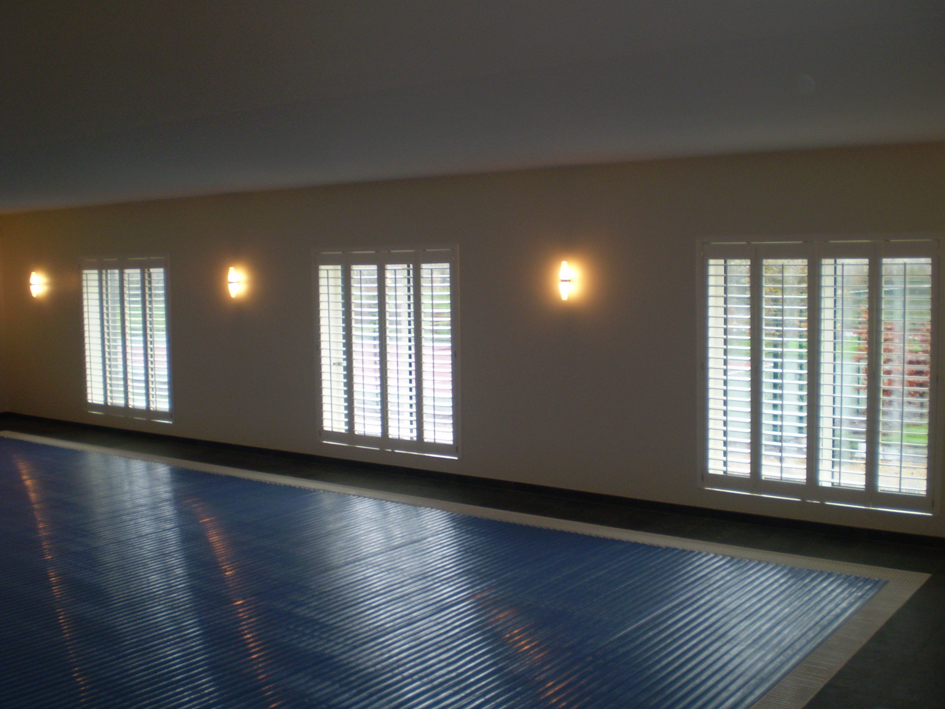 Shutters suitable for swimming pools supplied and fitted by adareshutters