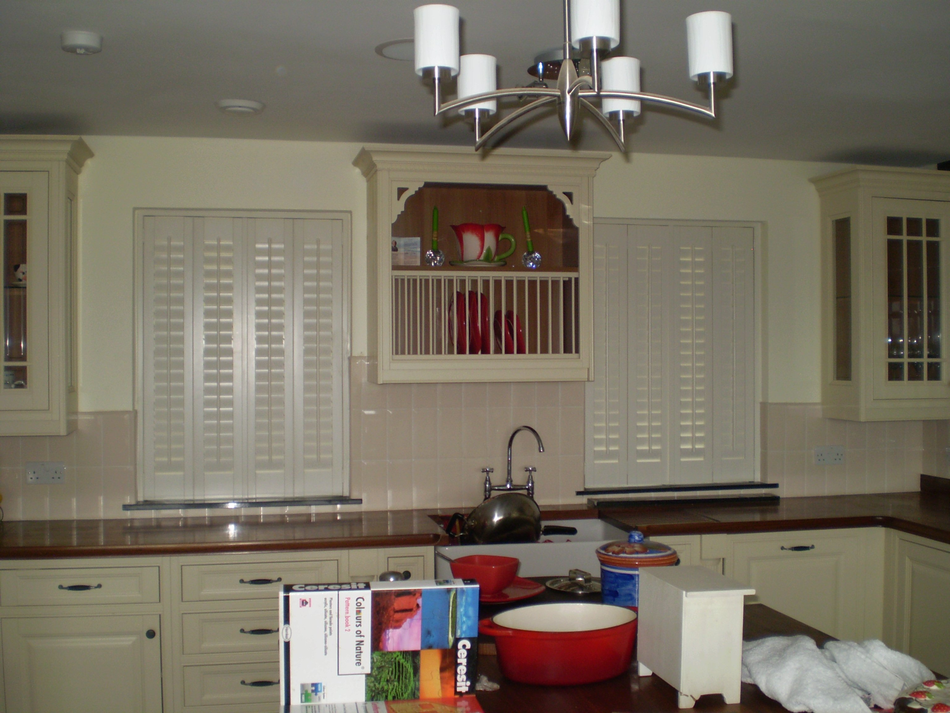 shutters in modern kitchen by adareshutters