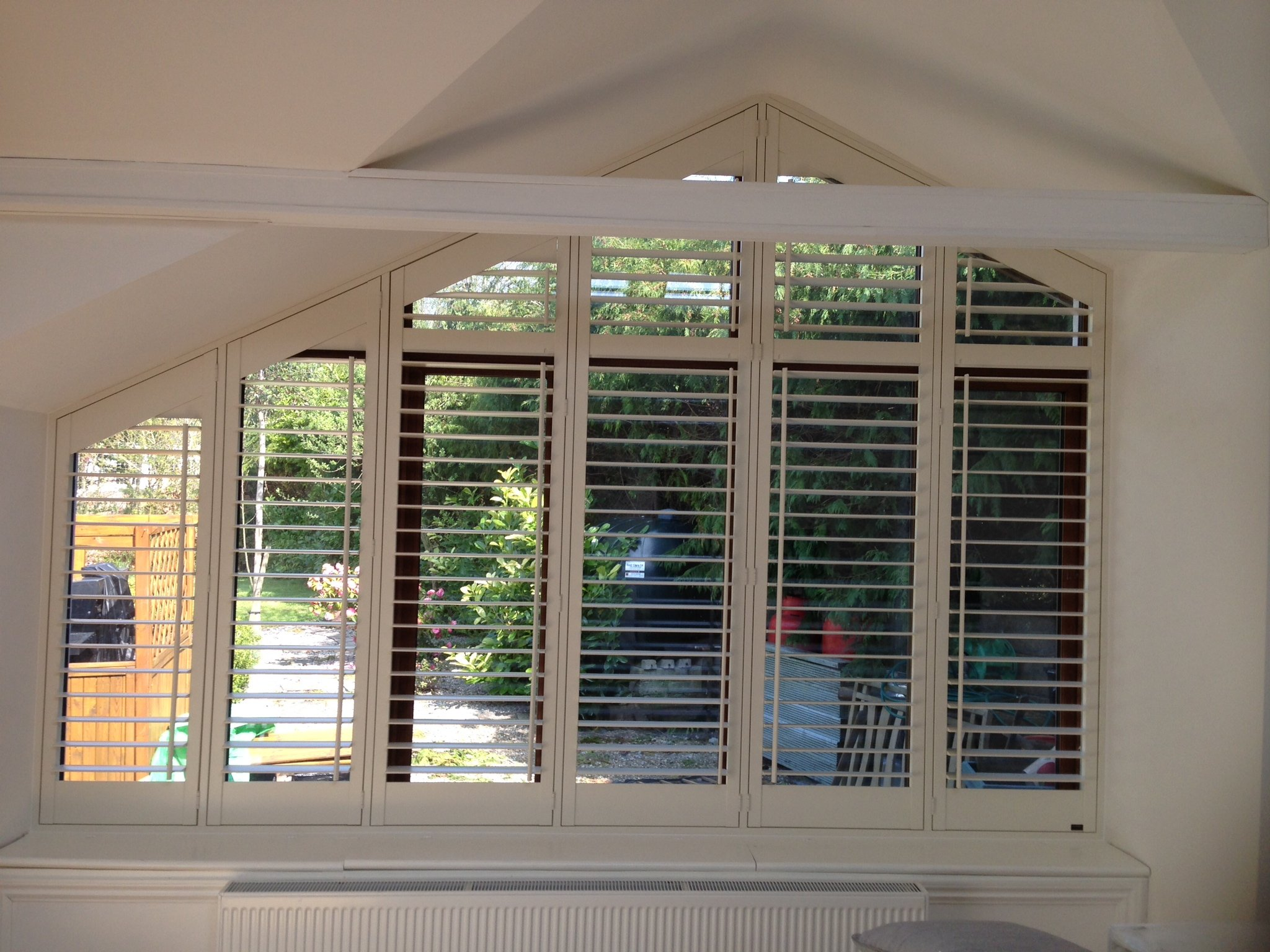 Shutters will suit any shape window